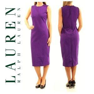 Lauren Ralph Lauren Purple Sheath Sleeveless Dress